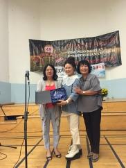 2015년도에 35년 근속상을 받은 요크 윤은자 선생님과 2016년도에 35년 근속상을 받으신 키치너워터루 송혜란선생님 축하합니다.